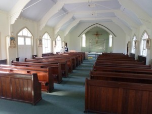 The pews come out of storage as we rush towards the opening date.